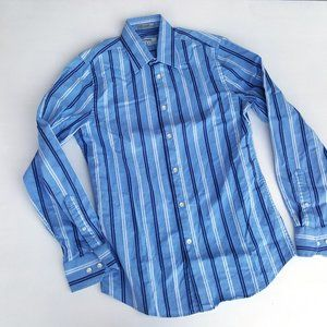 Express Fitted Striped Button Down Shirt Size S